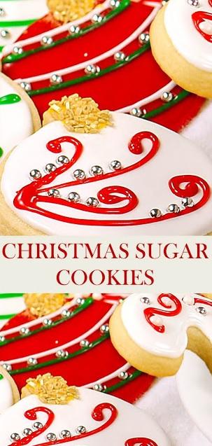 CHRISTMAS SUGAR COOKIES (CUT OUT COOKIES)