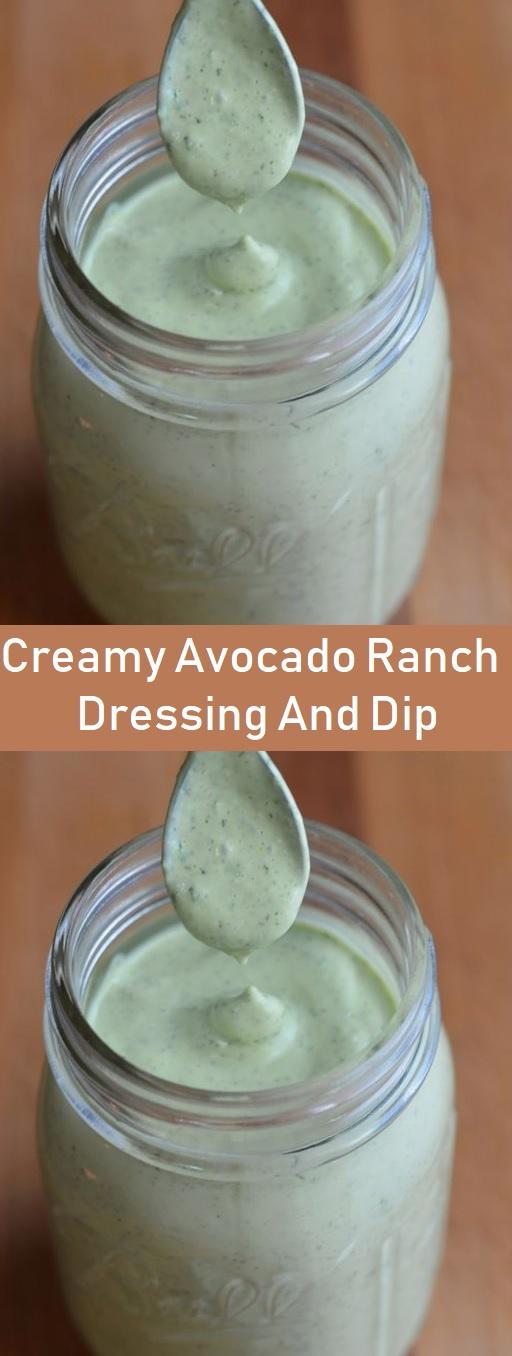 Creamy Avocado Ranch Dressing And Dip