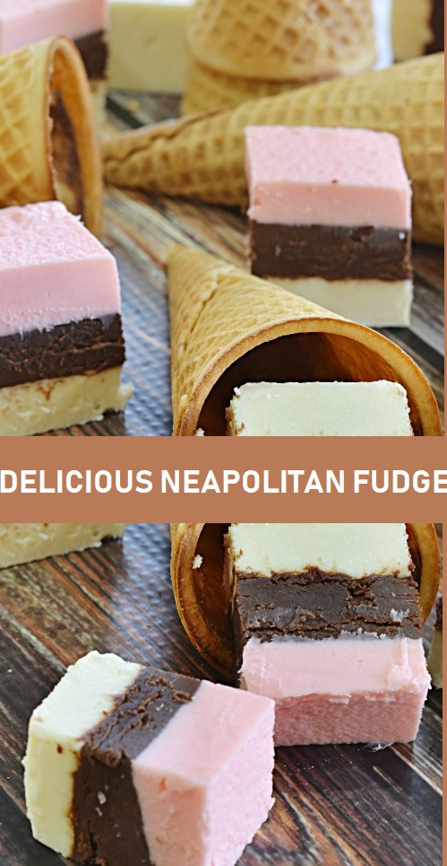 DELICIOUS NEAPOLITAN FUDGE