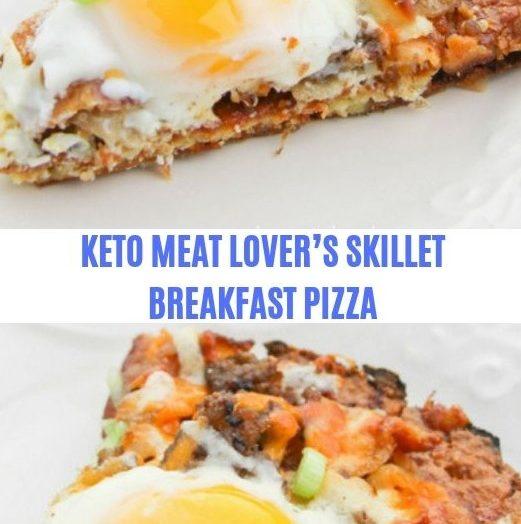 KETO MEAT LOVER'S SKILLET BREAKFAST PIZZA