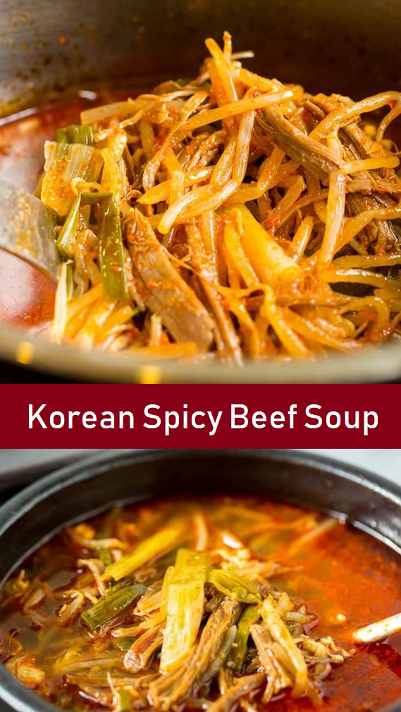 Korean Spicy Beef Soup