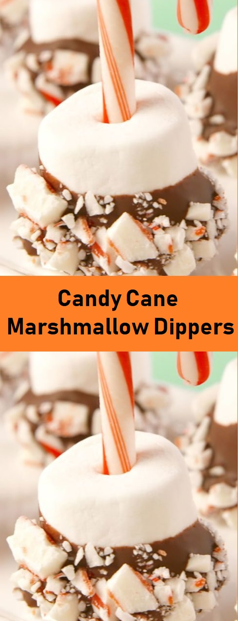 Candy Cane Marshmallow Dippers
