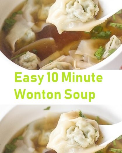 Easy 10 Minute Wonton Soup