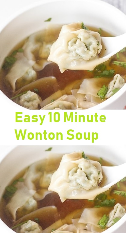 Easy 10 Minute Wonton Soup