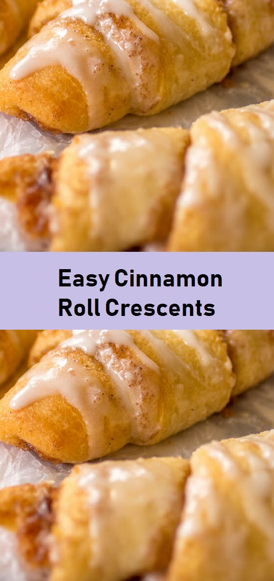 Easy Cinnamon Roll Crescents