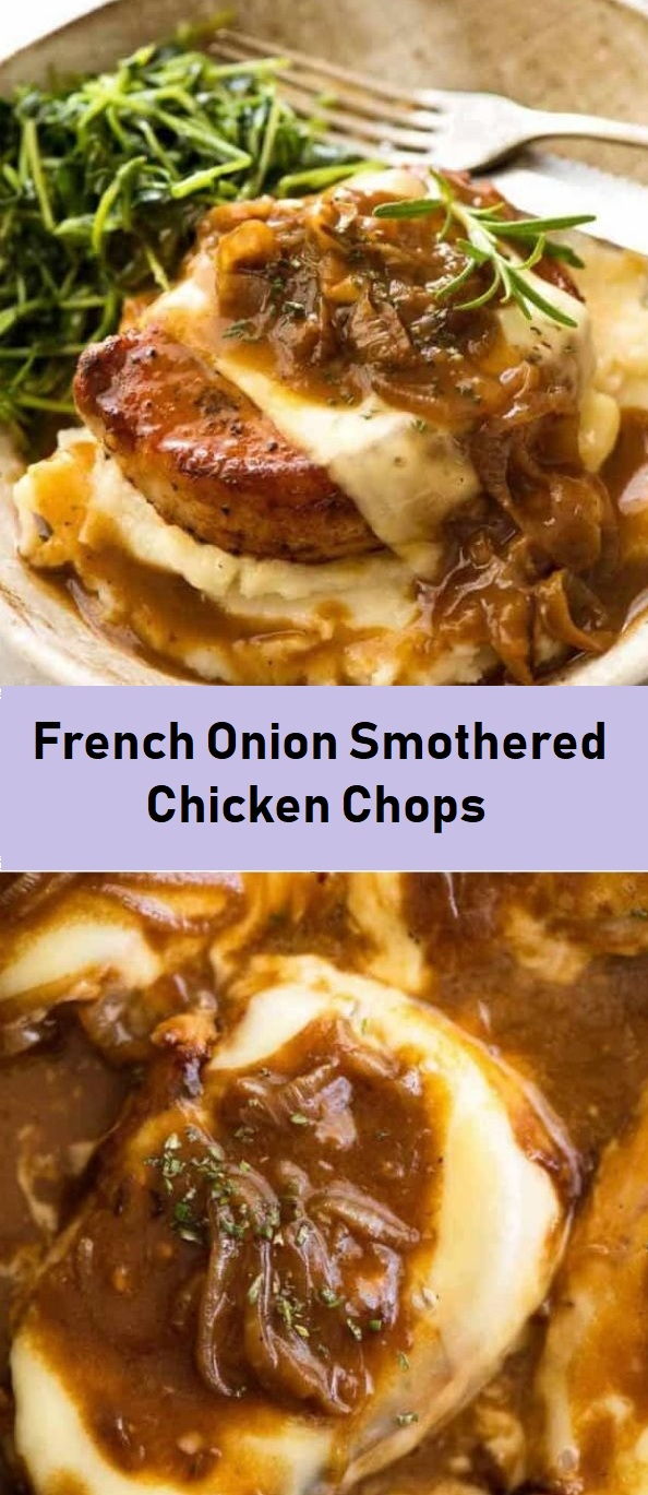 French Onion Smothered Chicken Chops 1