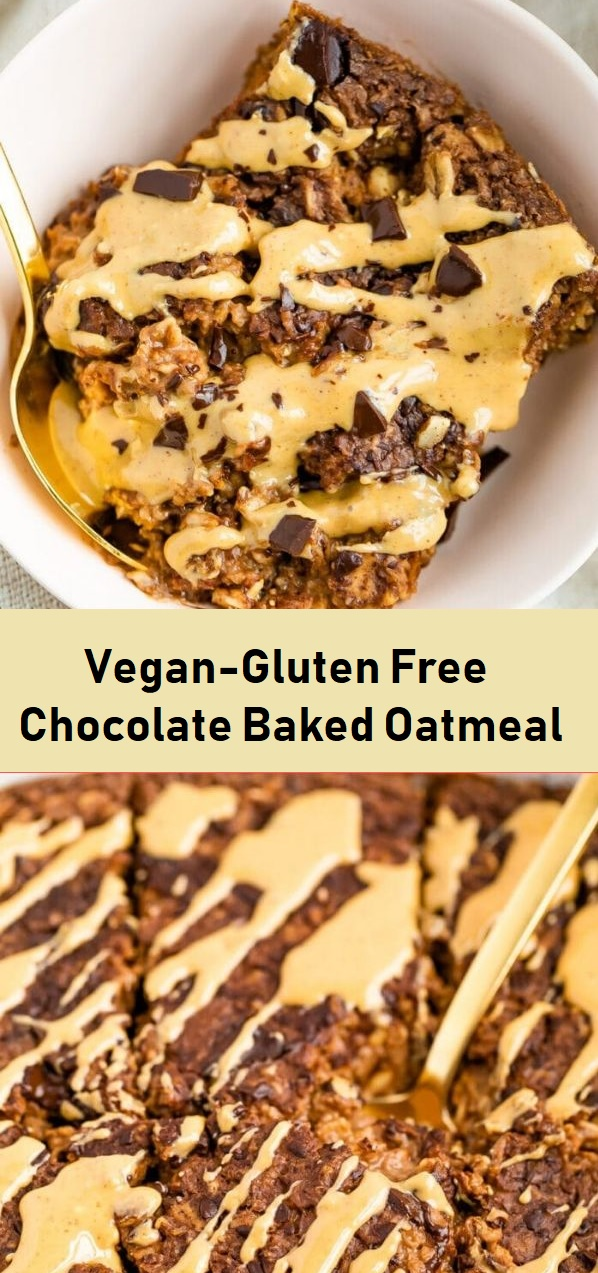 Vegan-Gluten Free Chocolate Baked Oatmeal