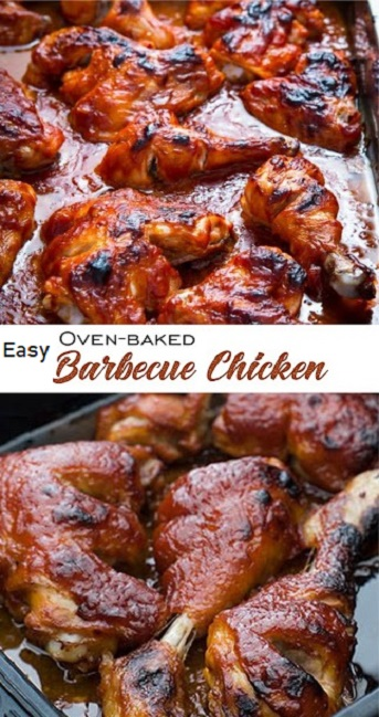 Easy Oven-Baked Barbecue Chicken