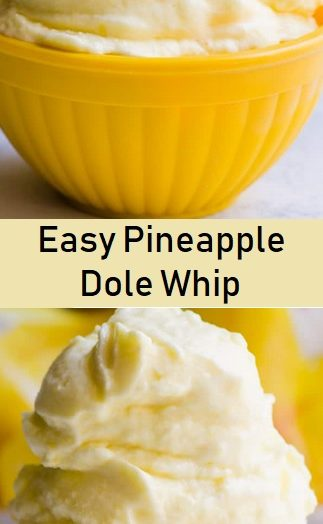Easy Pineapple Dole Whip