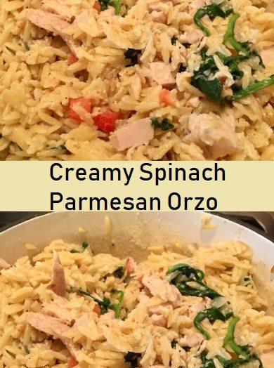 Creamy Spinach Parmesan Orzo