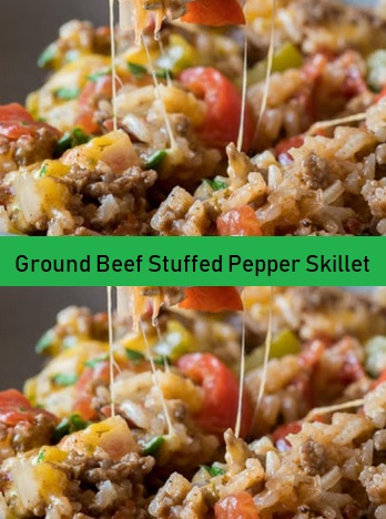 Ground Beef Stuffed Pepper Skillet