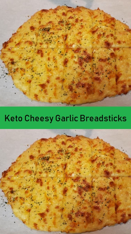 Keto Cheesy Garlic Breadsticks