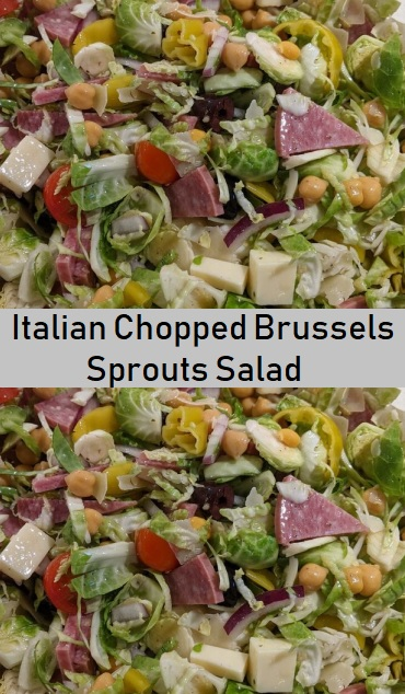 Italian Chopped Brussels Sprouts Salad