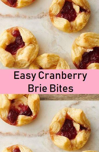 Easy Cranberry Brie Bites