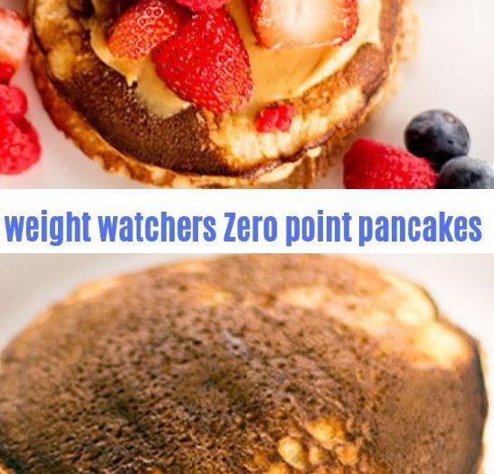 weight watchers Zero point pancakes