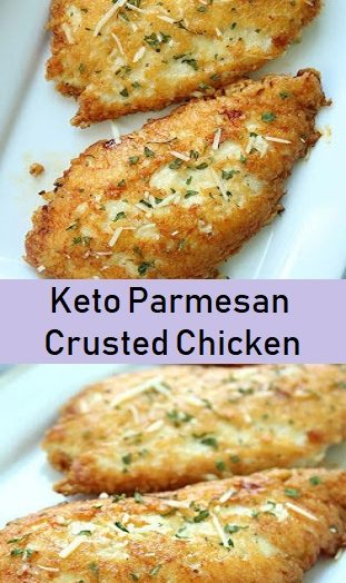 Keto Parmesan Crusted Chicken