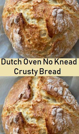 Dutch Oven No Knead Crusty Bread