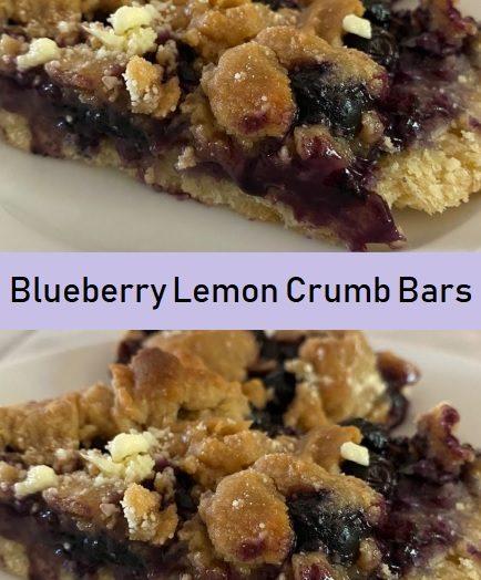 Blueberry Lemon Crumb Bars