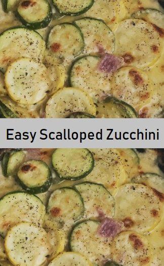 Easy Scalloped Zucchini